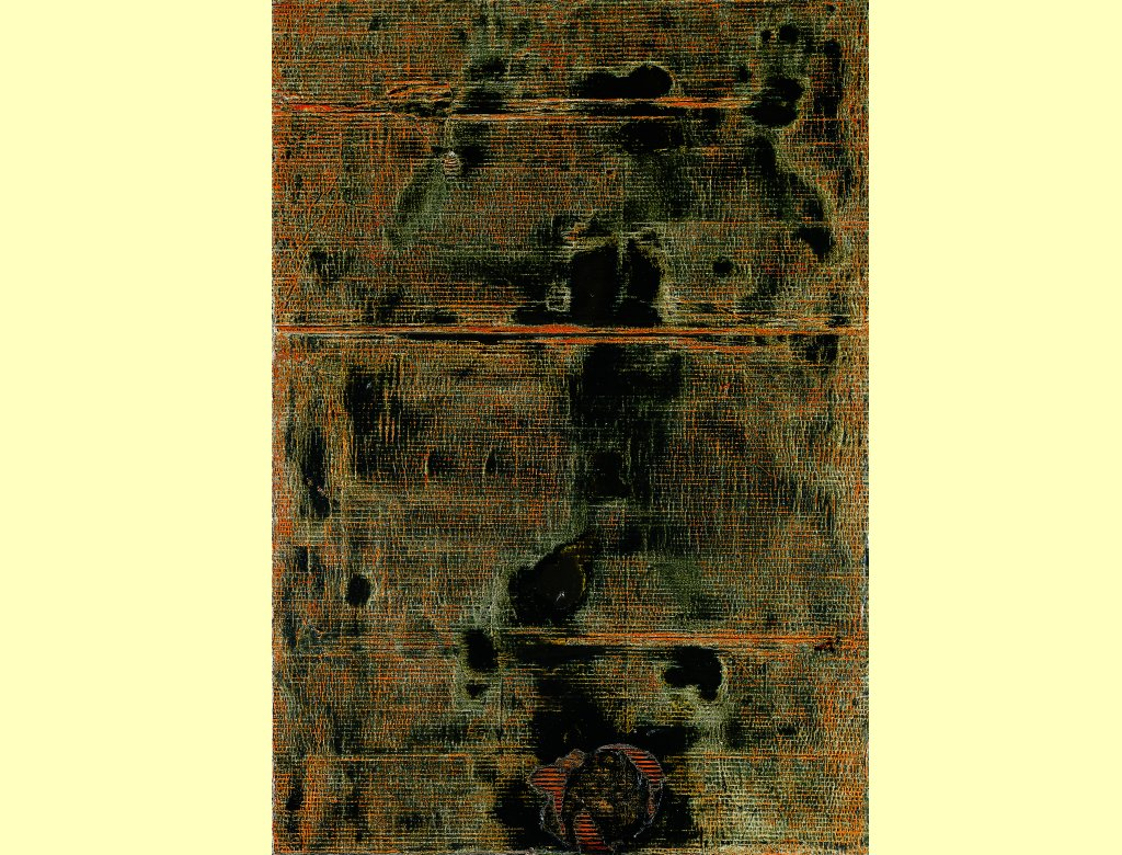 empreinte 1971 162 x 114 cm carton ondul peinture l 39 huile sur contreplaqu. Black Bedroom Furniture Sets. Home Design Ideas